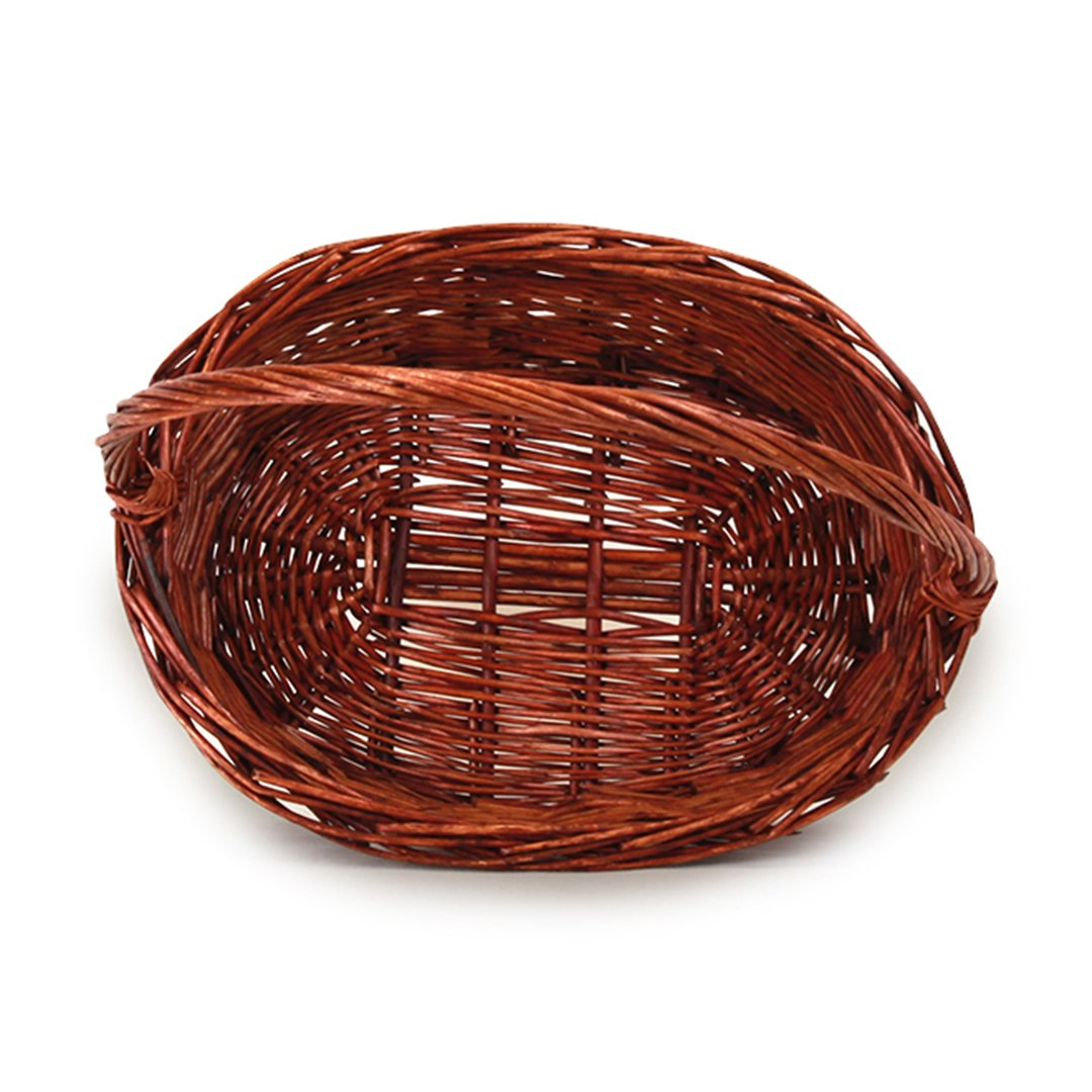 Lacquered Oval Baskets With Handle top