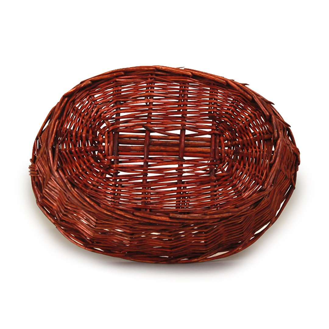 Lacquered Oval Baskets With Handle bottom