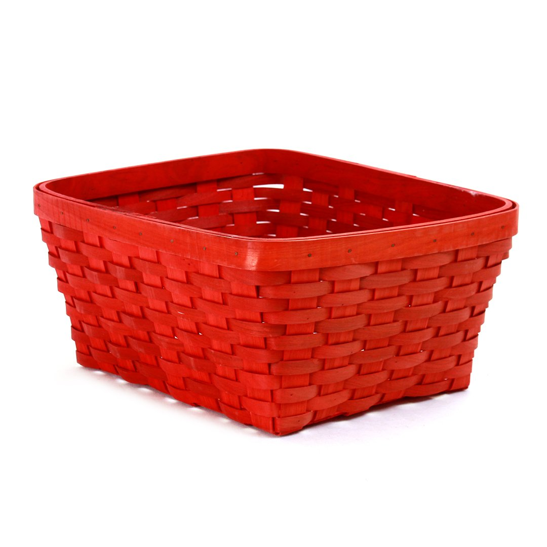 Red Rectangular Baskets side