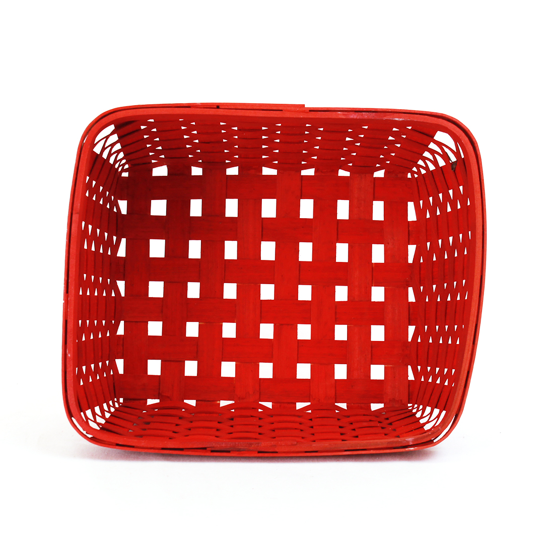 Red Rectangular Baskets top