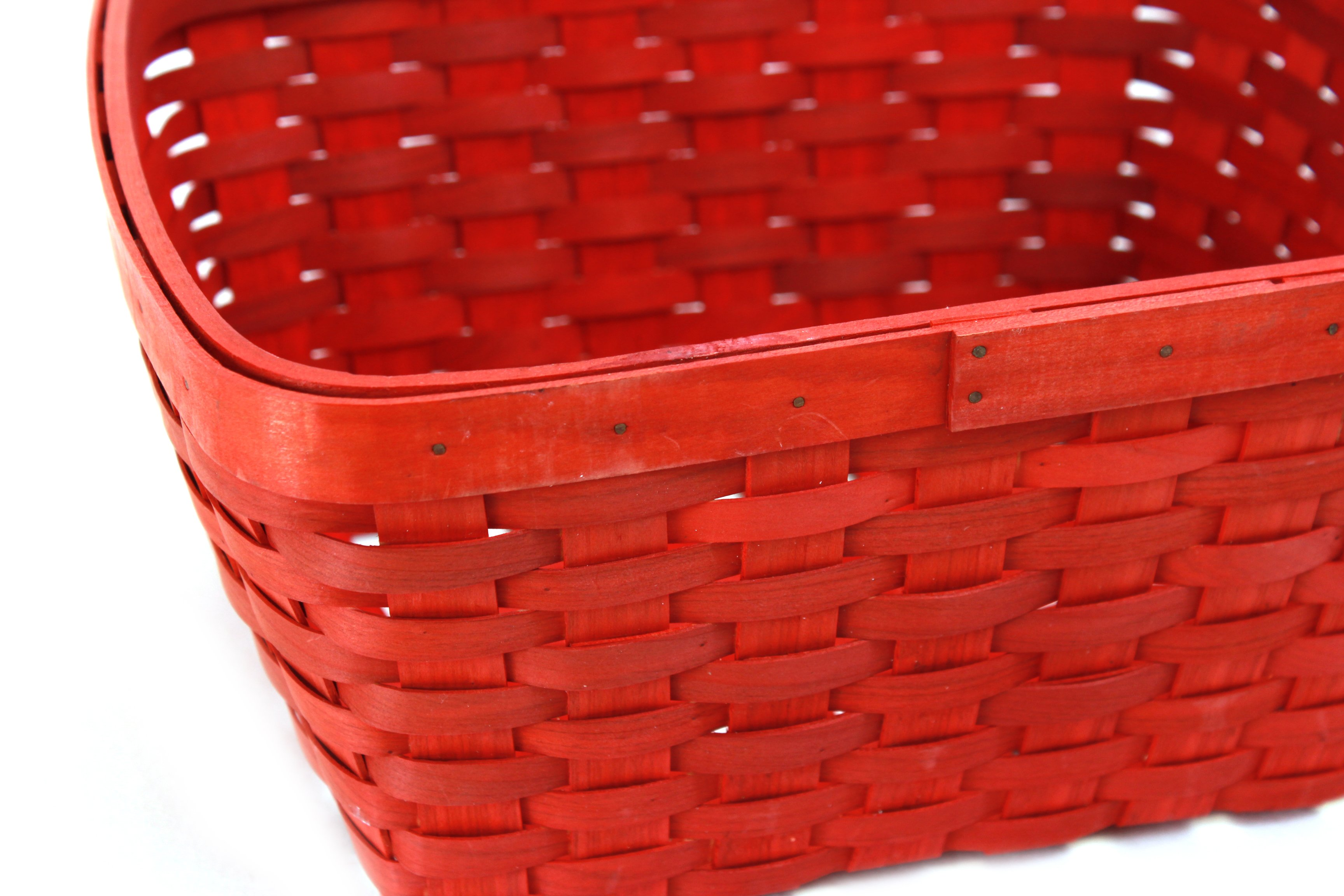 Red Rectangular Baskets close