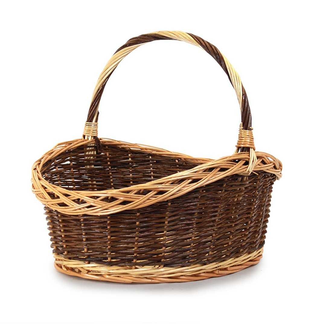 Oval Baskets With Handle side