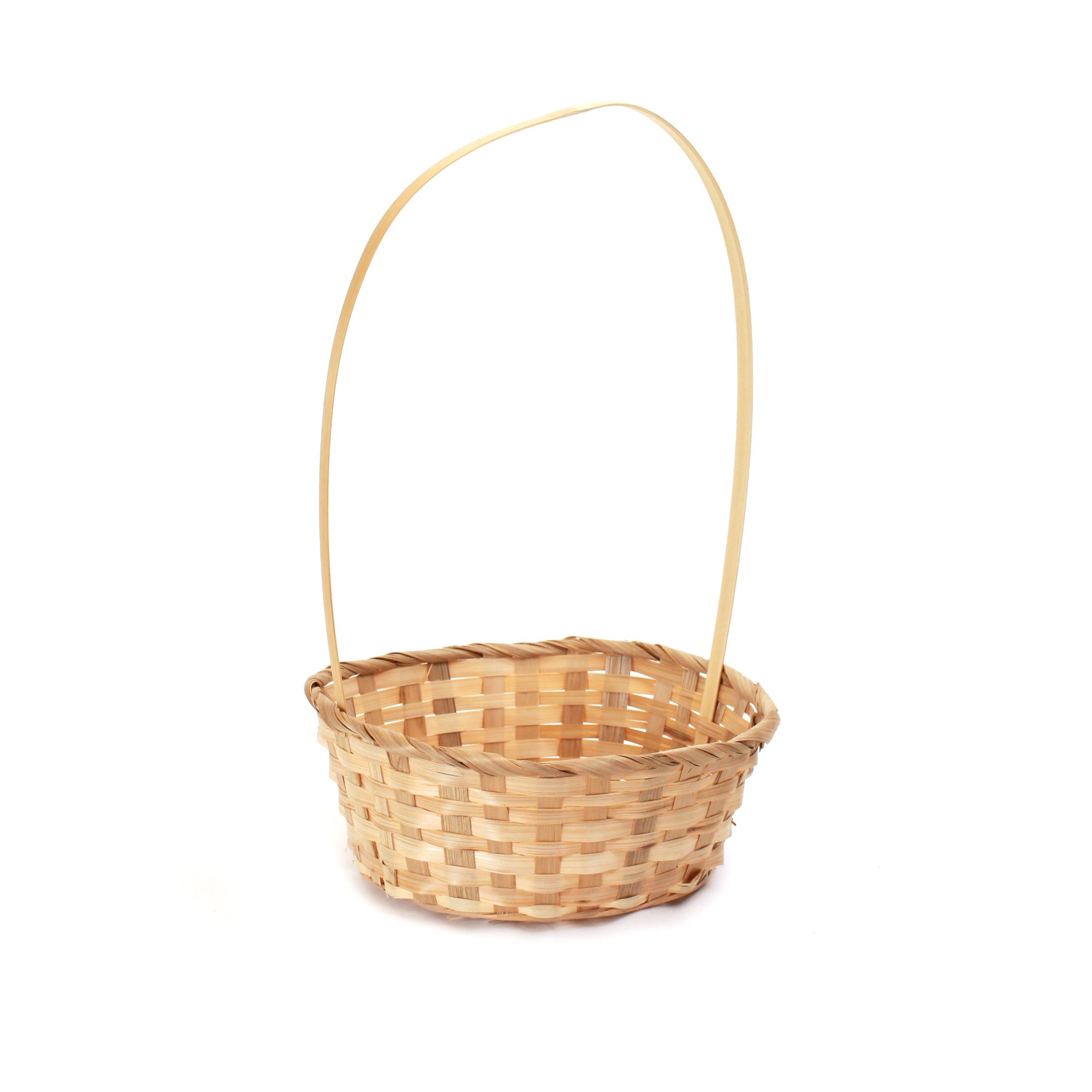 Natural Round Bamboo Baskets side