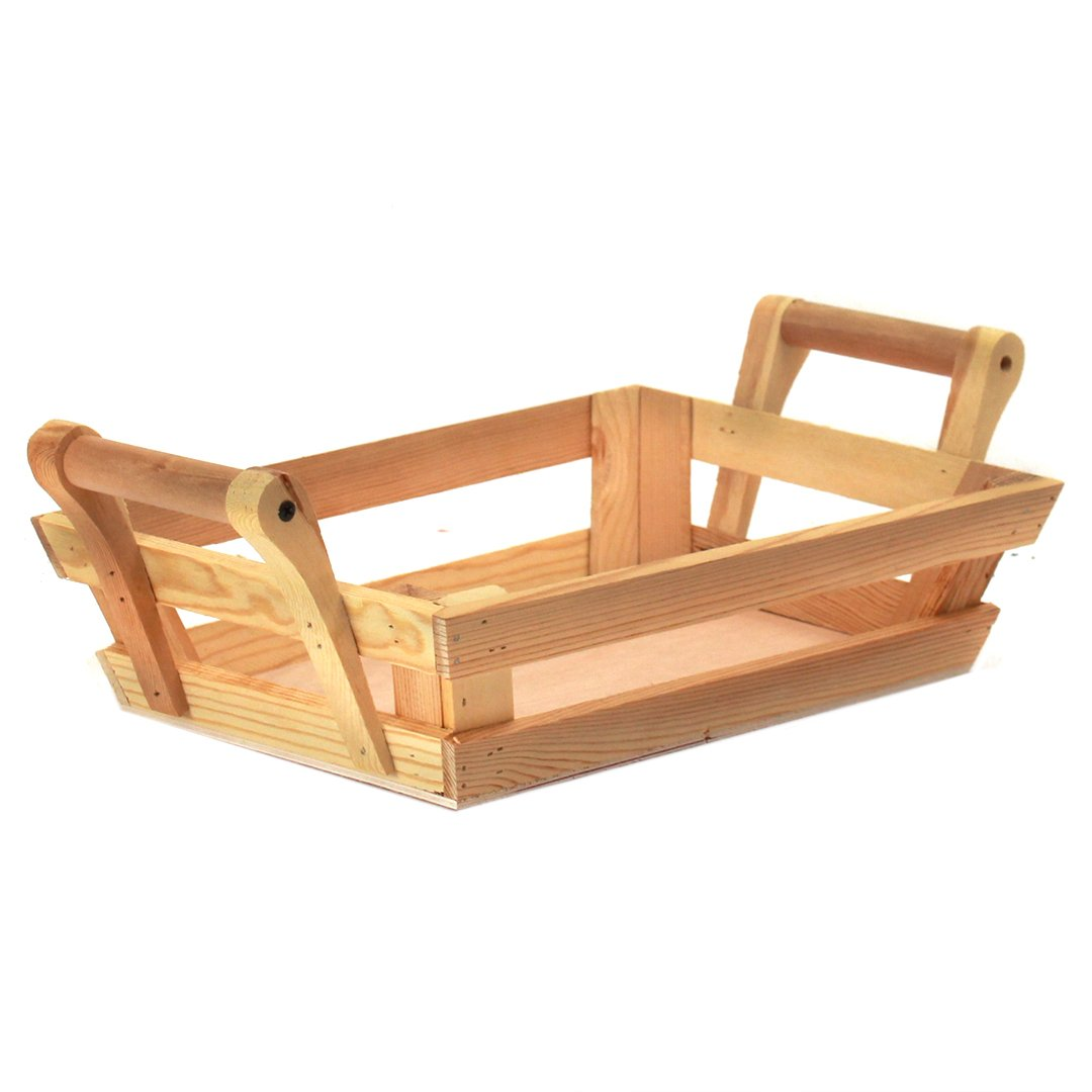 Rectangular Wood Baskets side