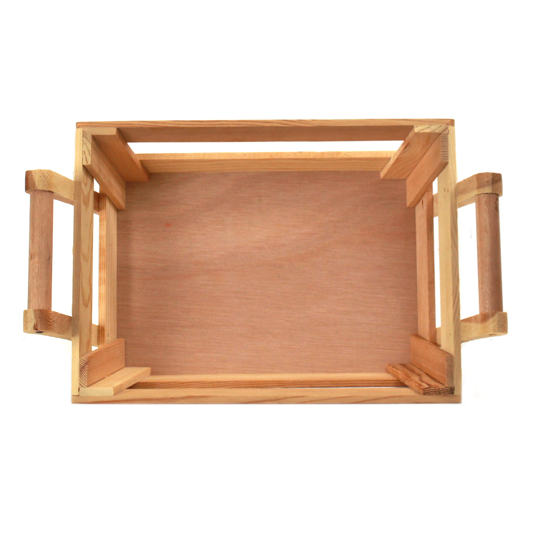 Rectangular Wood Baskets top