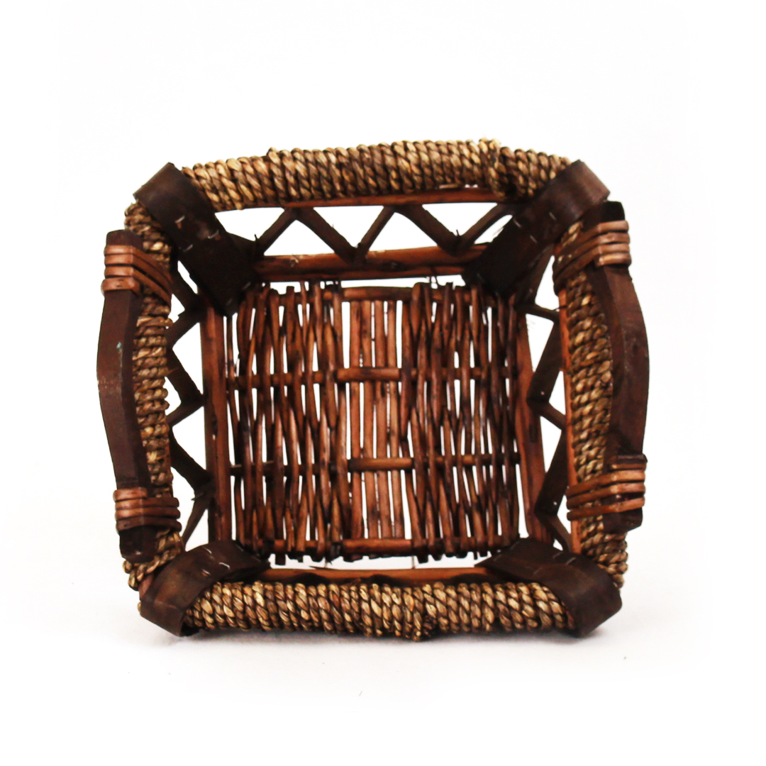 Buy Dark Brown Square Baskets With Handles 5047 Series