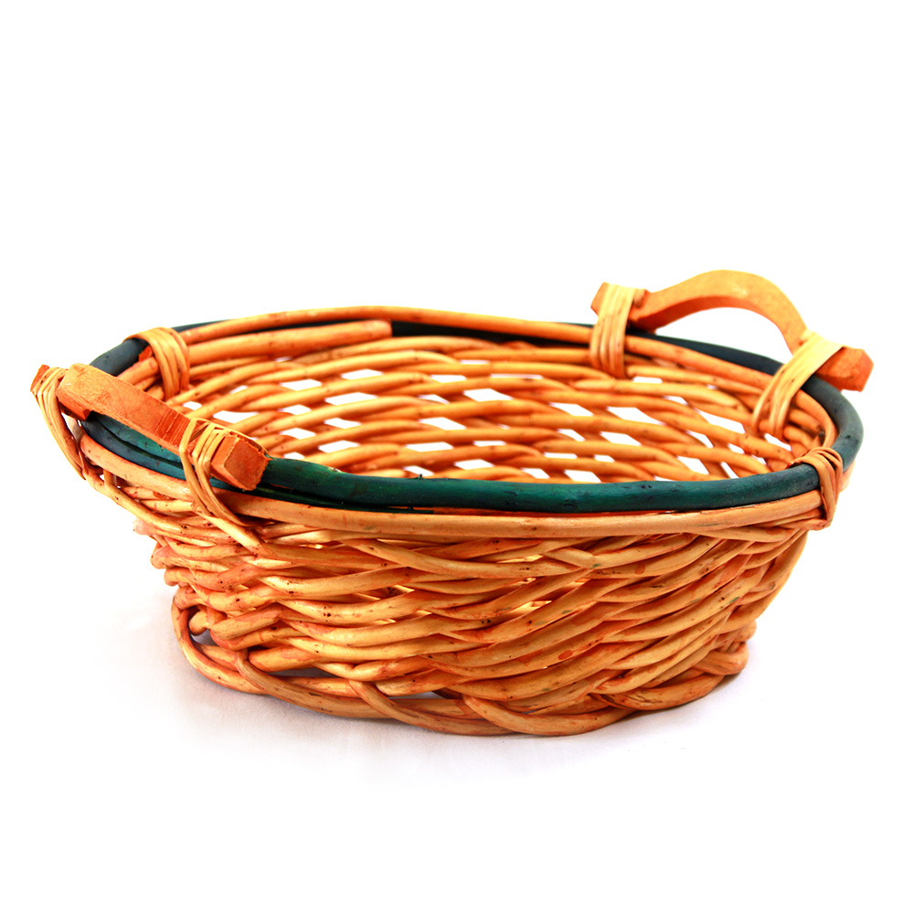 Round 2-Tone Baskets With Handles side