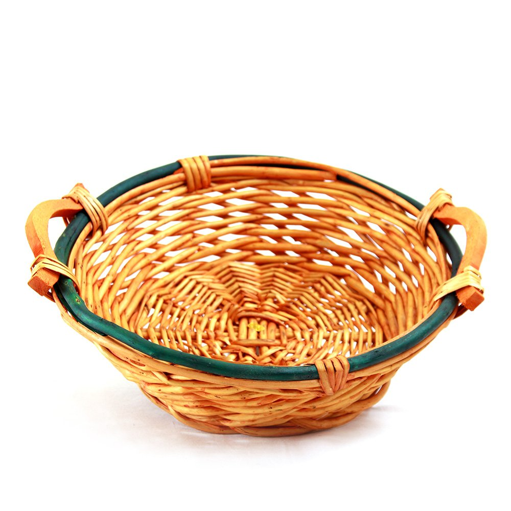 Round 2-Tone Baskets With Handles top