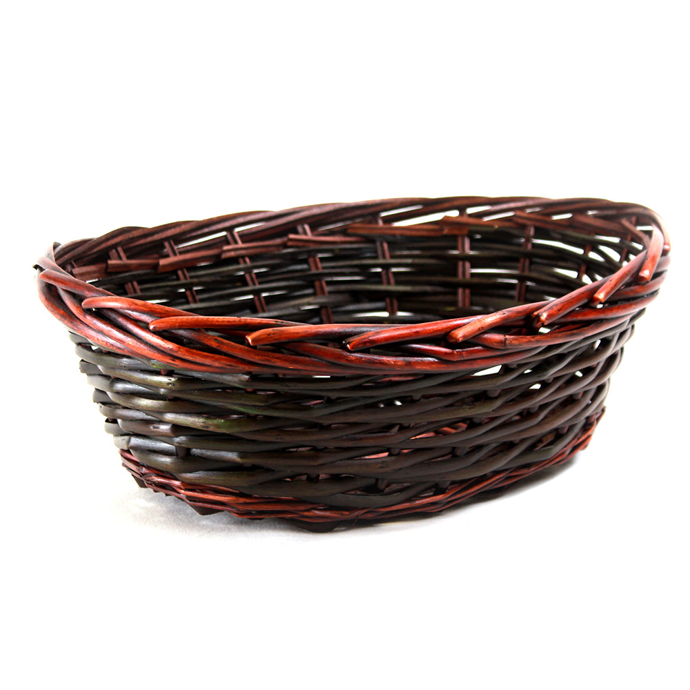 Brown Oval basket 14.5'' x 11'' x 5'' side