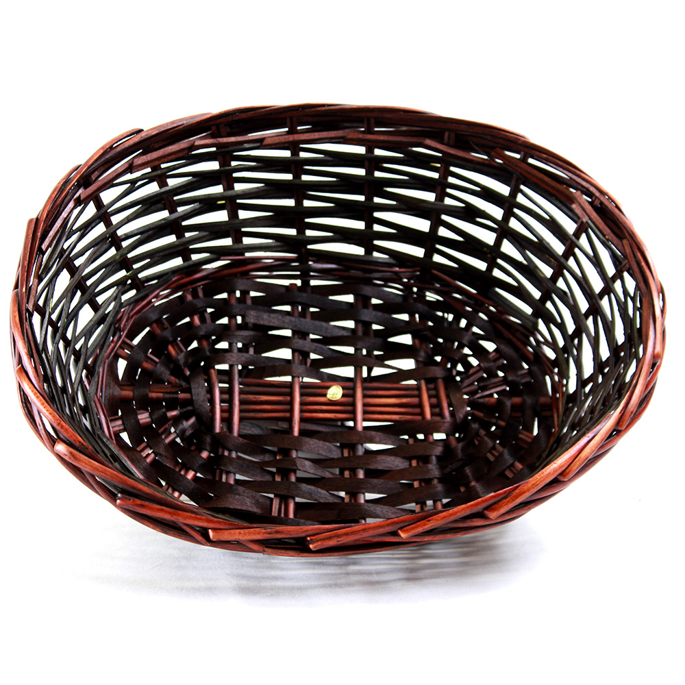 Brown Oval basket 14.5'' x 11'' x 5'' top