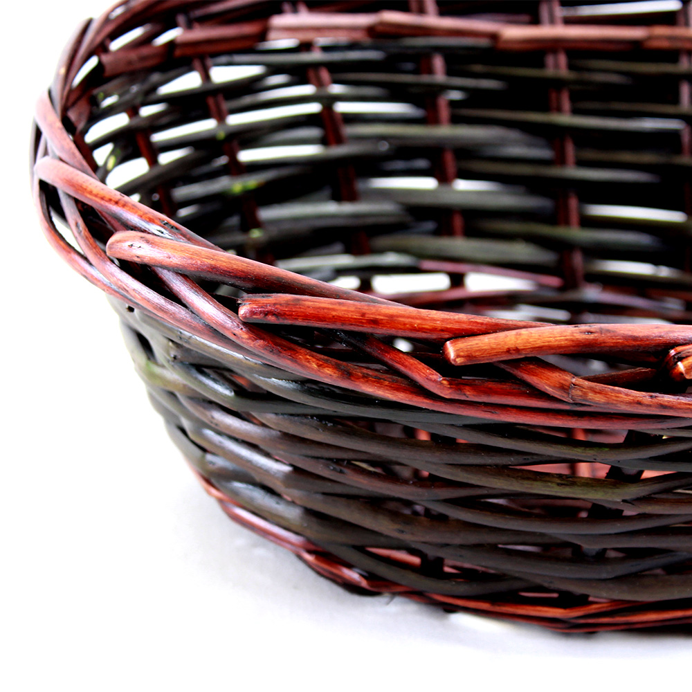 Brown Oval basket 14.5'' x 11'' x 5'' close