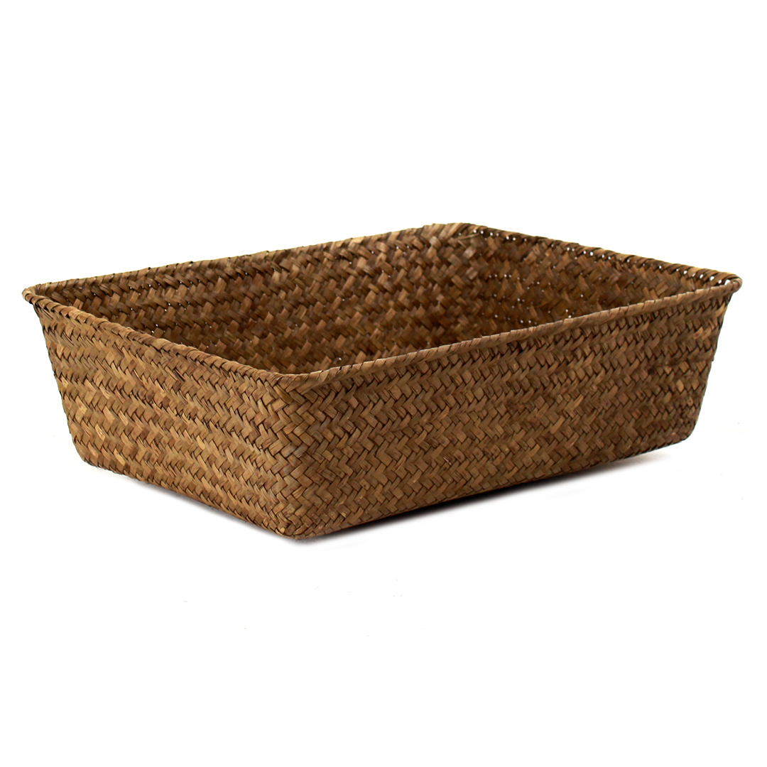 Dark Brown Rectangular Basket 13'' x 9'' x 4'' side