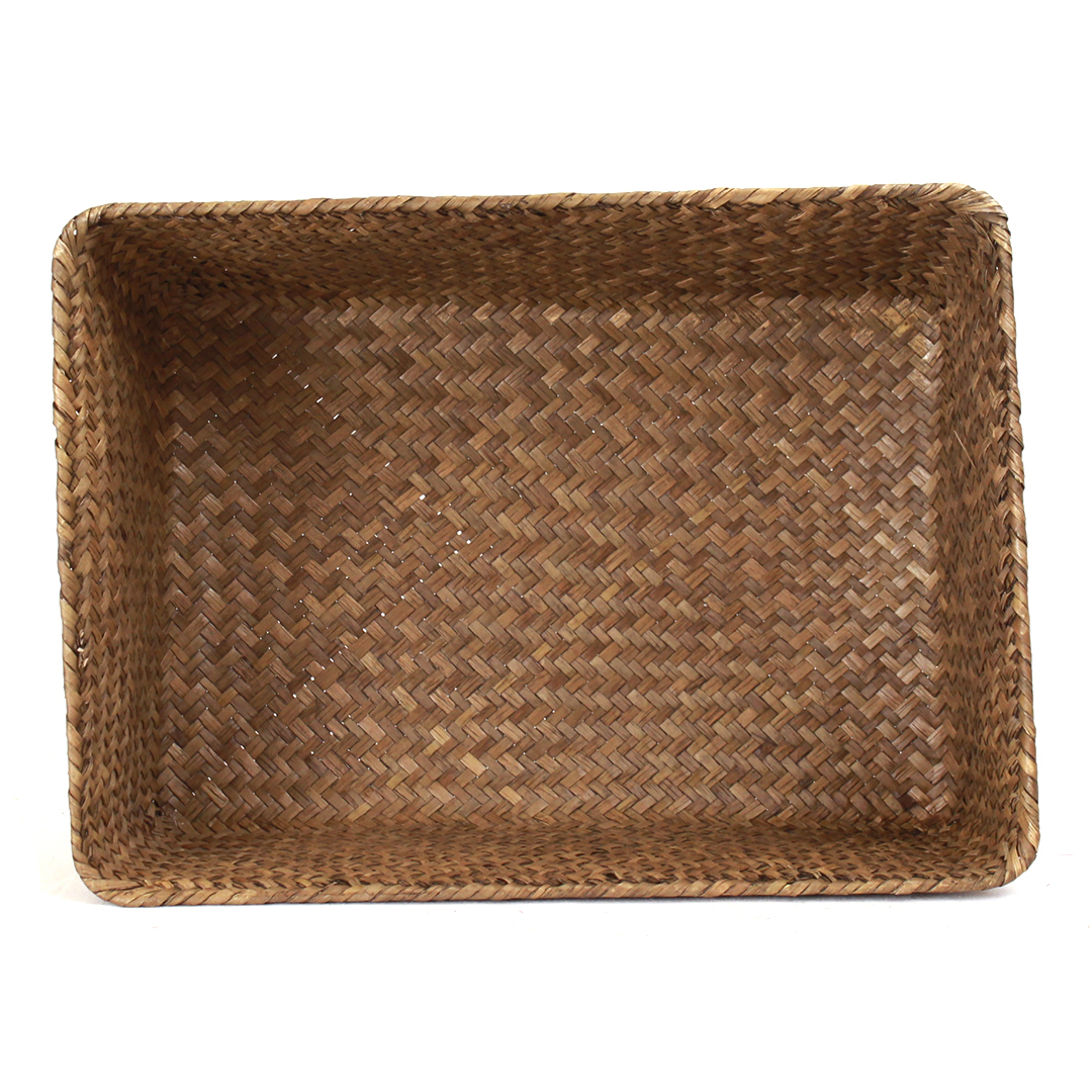 Dark Brown Rectangular Basket 13'' x 9'' x 4'' top