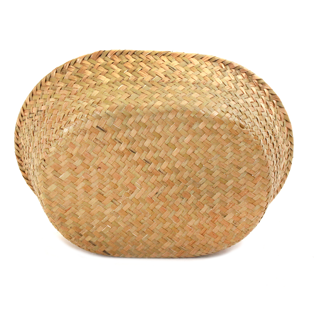 "Natural Oval Basket 12"" X 9.5"" X 3.5"" bottom"