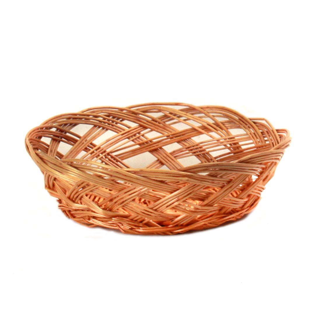 Round Lacquered Bread Baskets front