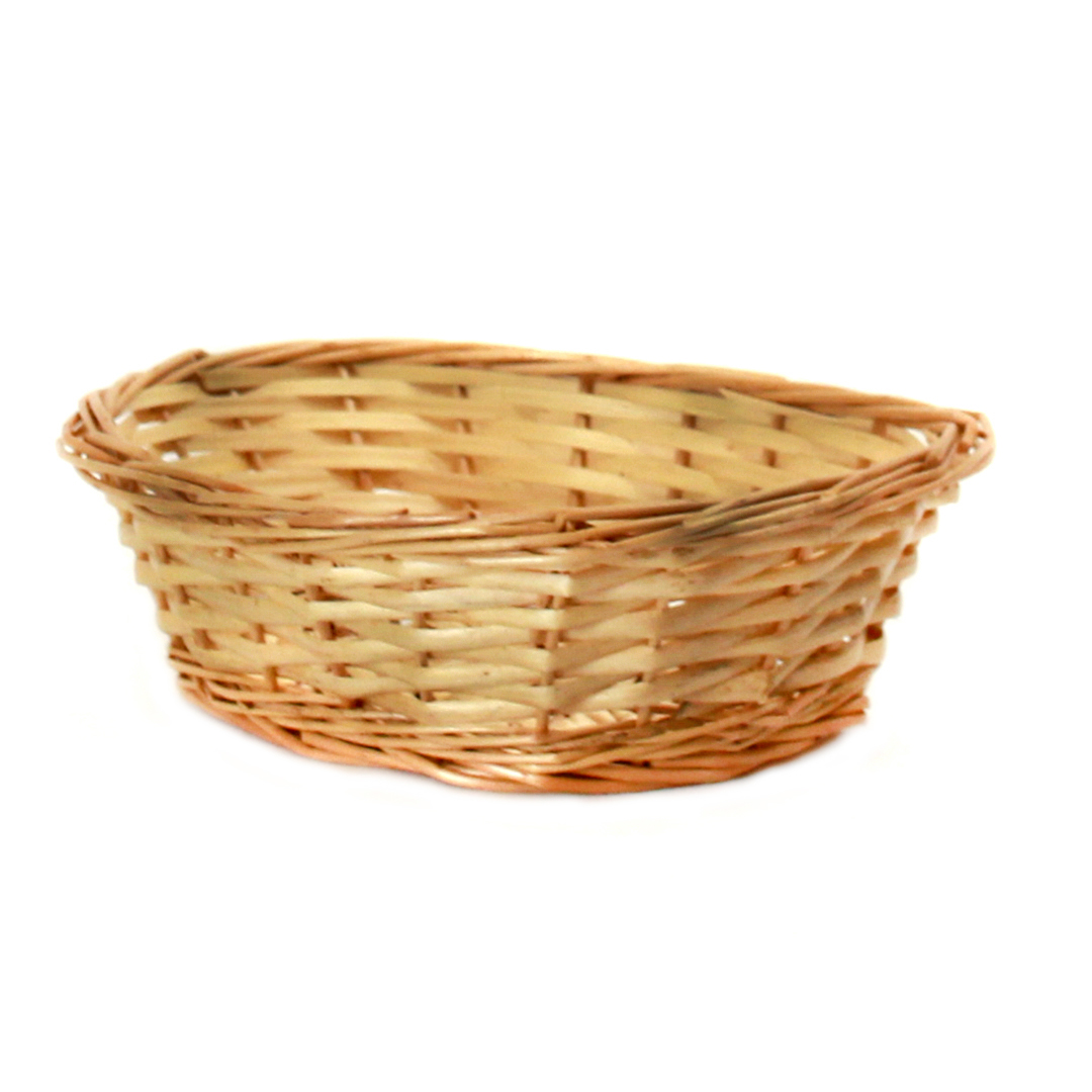 "Lacquered Oval Bread Basket 9"" x 7"" x 2½"" side"