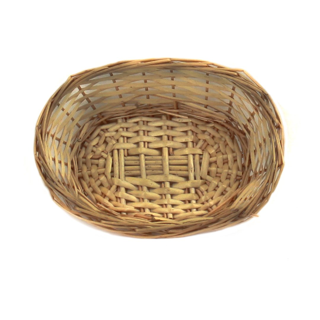 "Lacquered Oval Bread Basket 9"" x 7"" x 2½"" top"