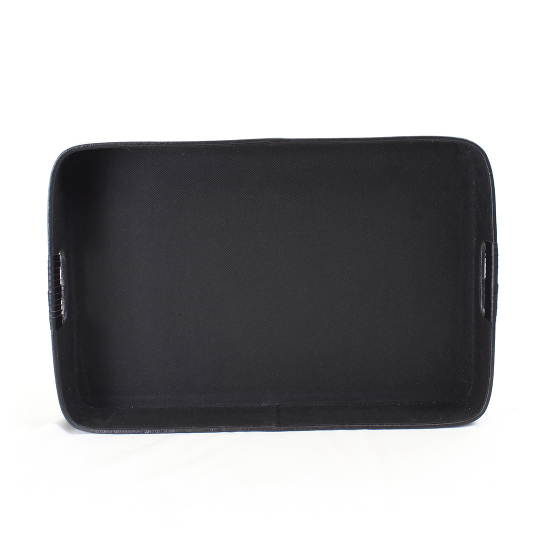 Black Faux Leather Tray top