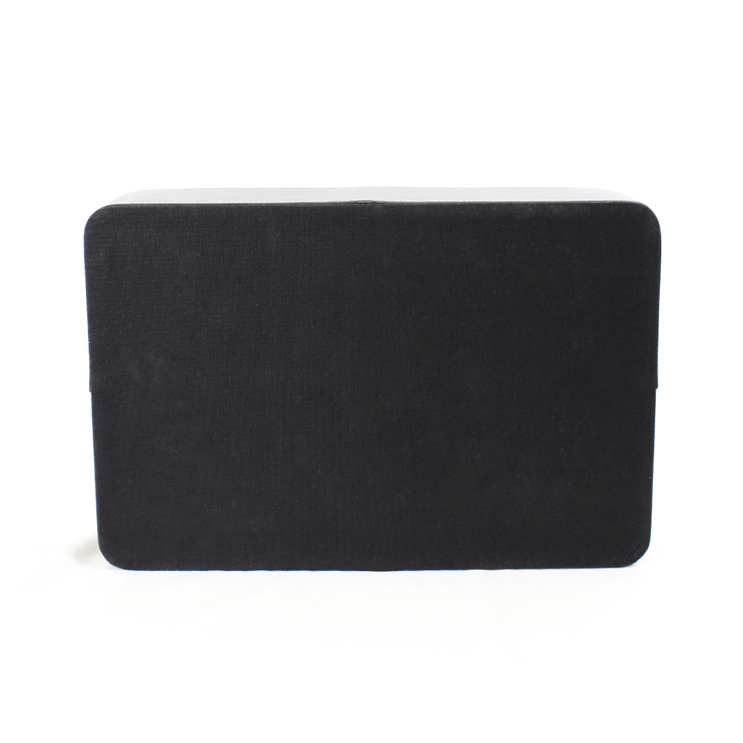 Black Faux Leather Tray bottom