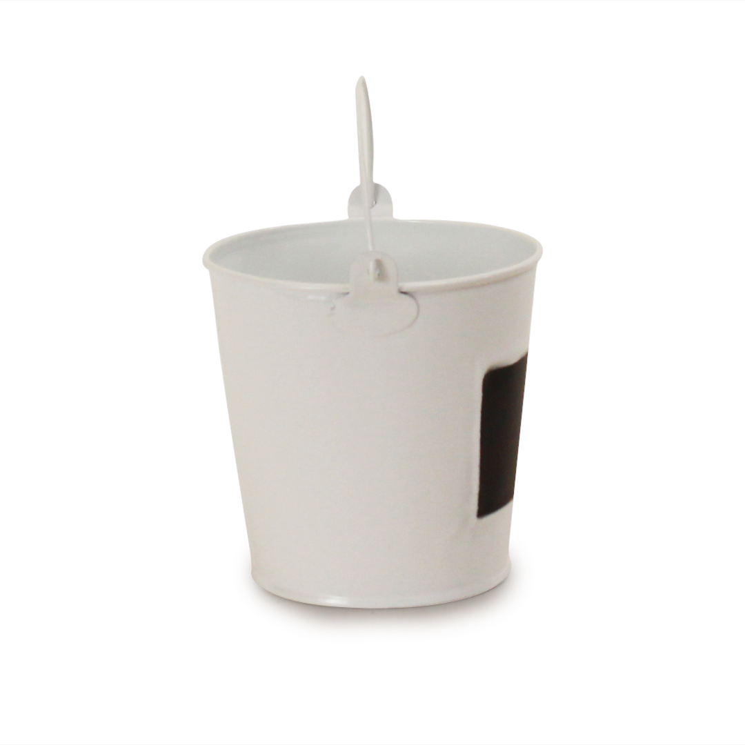 White Pail 4.5'' x 4.5''side