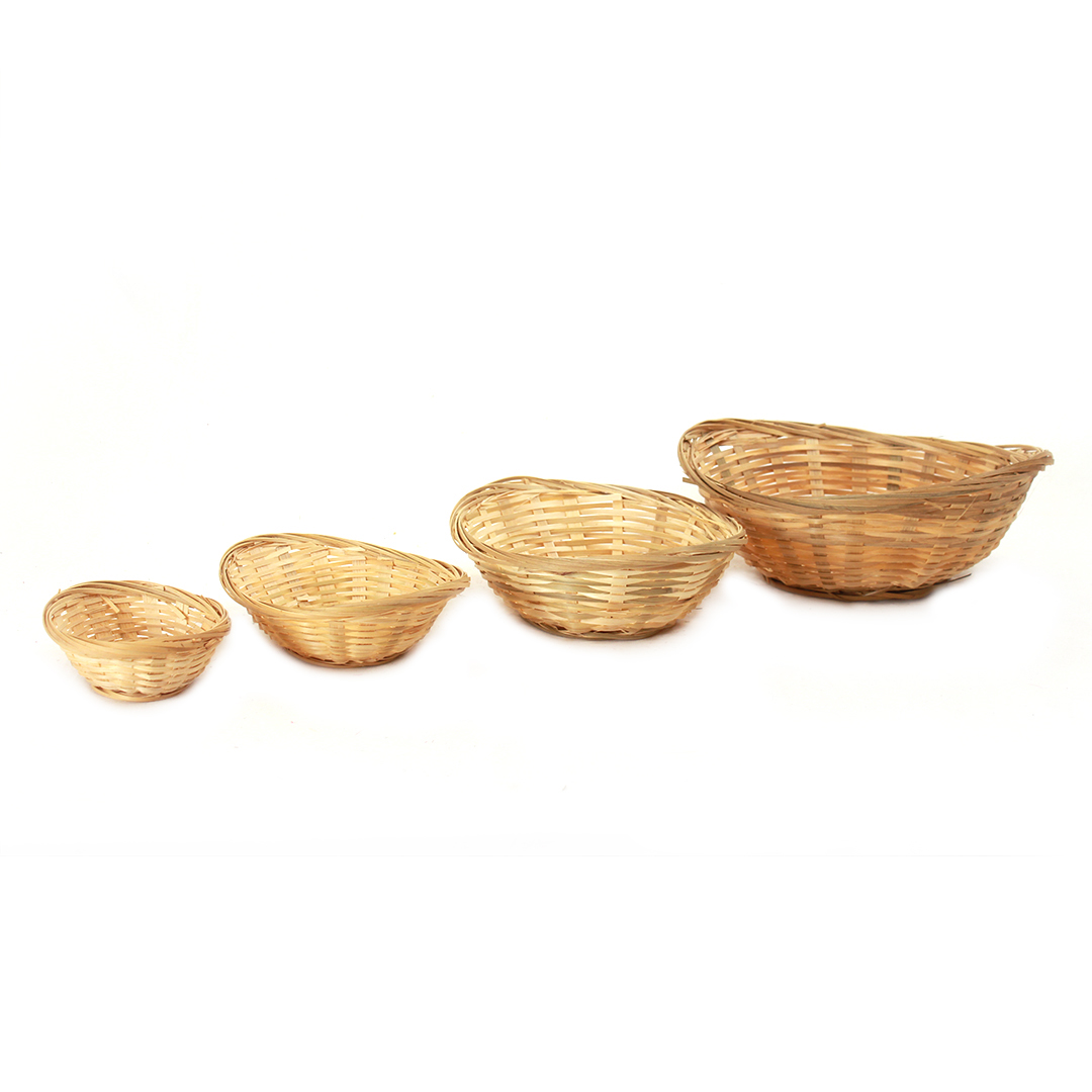 Oval Bamboo Bread Baskets group