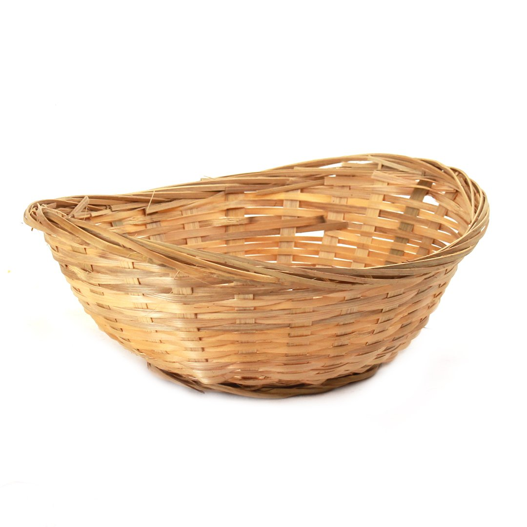 Oval Bamboo Bread Baskets side