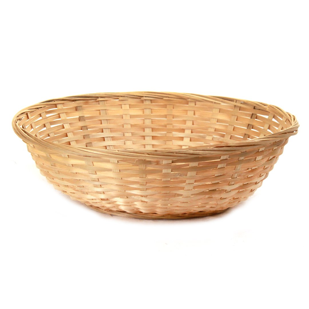 Round Bamboo Bread Baskets big