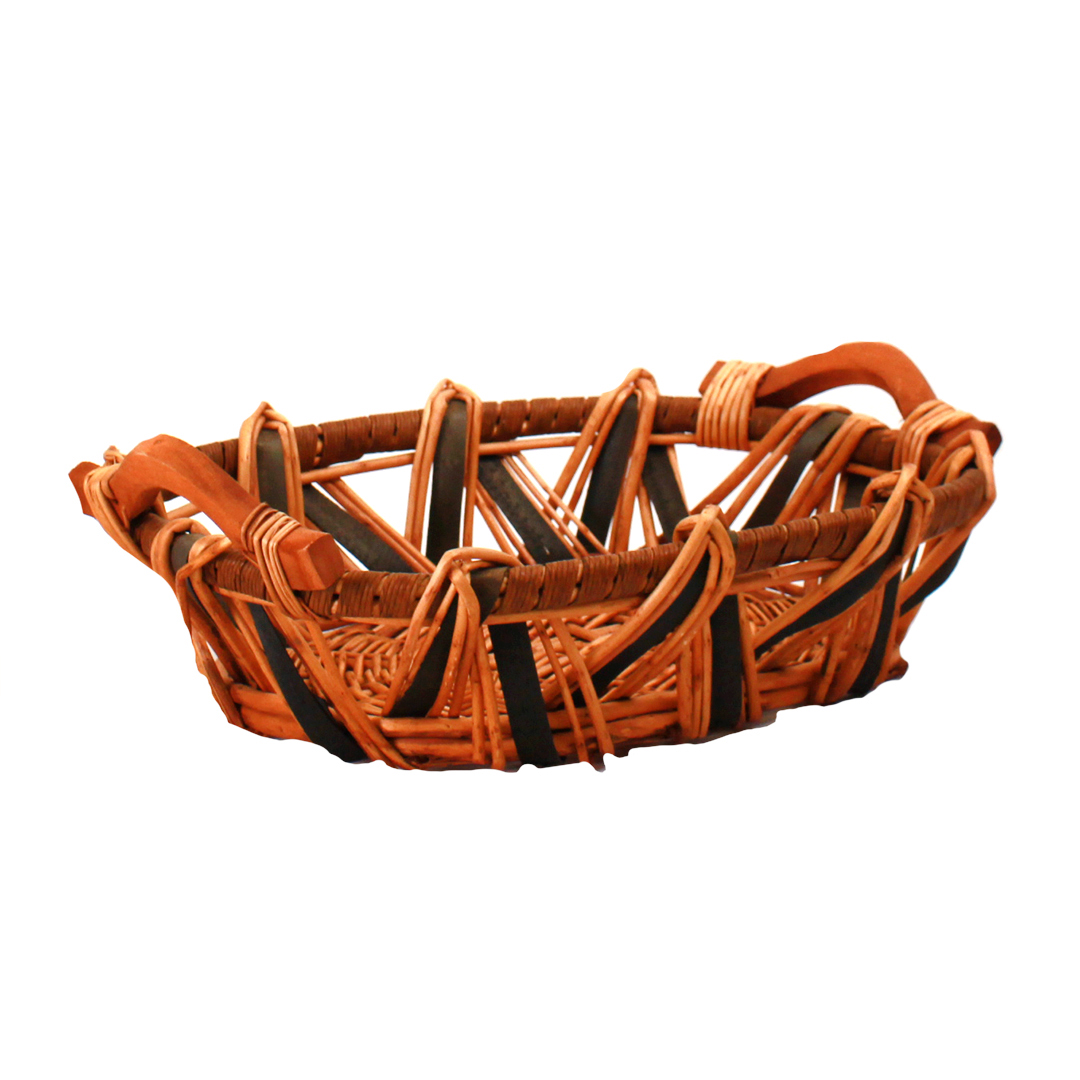 Oval Baskets -Tone With Handles side