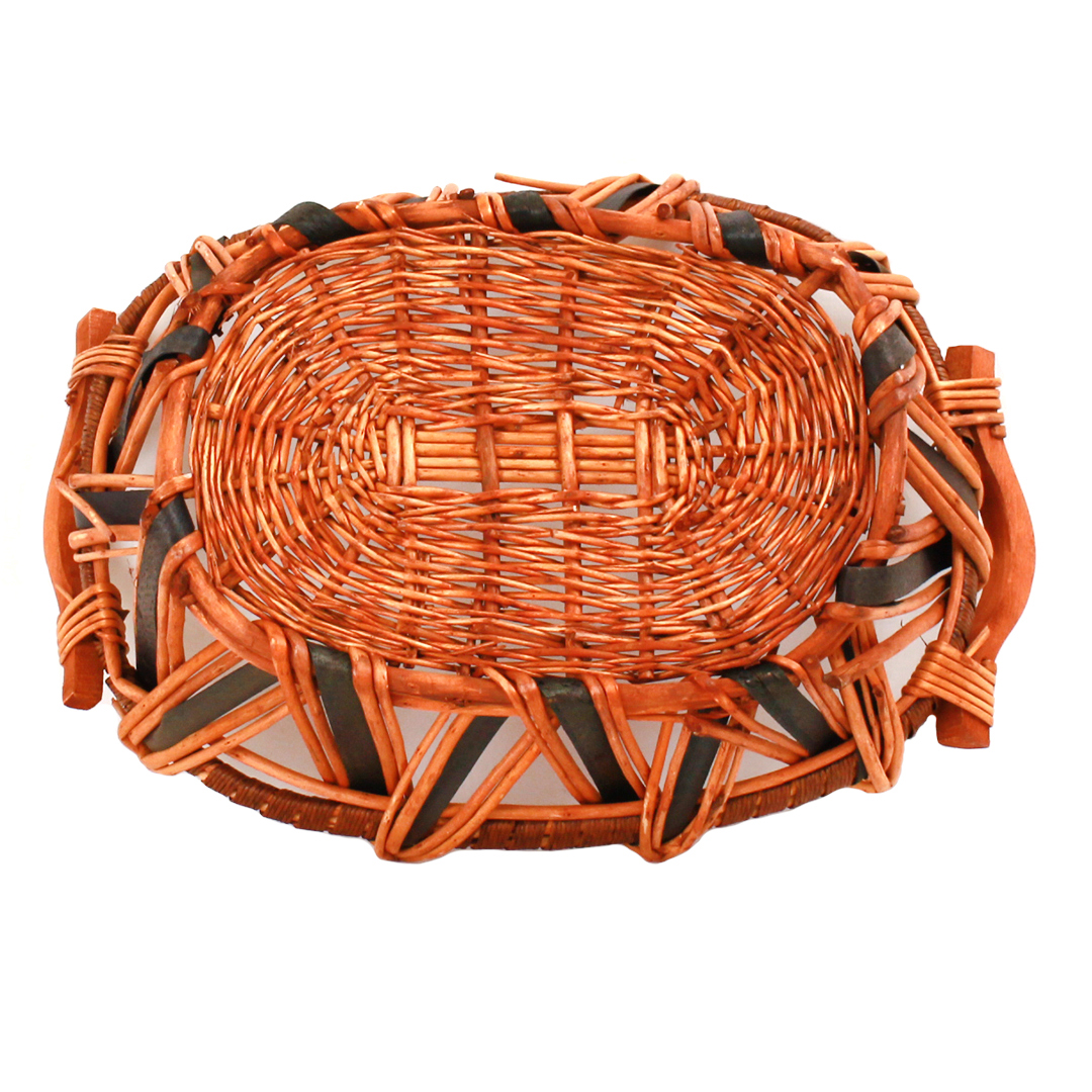 Oval Baskets -Tone With Handles bottom