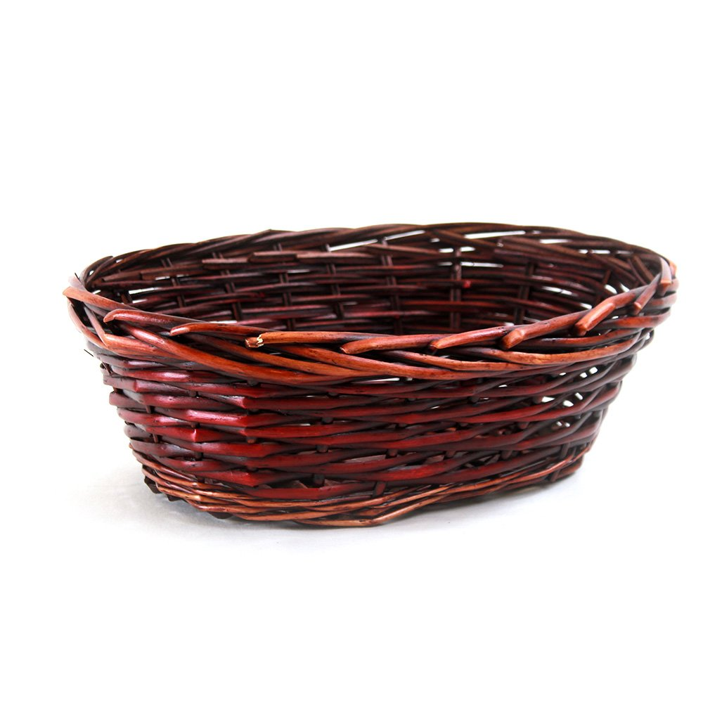 Red Oval basket 14.5'' x 11'' x 5'' side