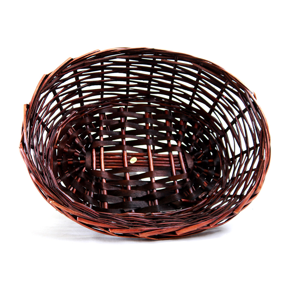 Red Oval basket 14.5'' x 11'' x 5'' top