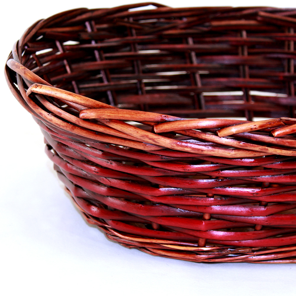 Red Oval basket 14.5'' x 11'' x 5'' close