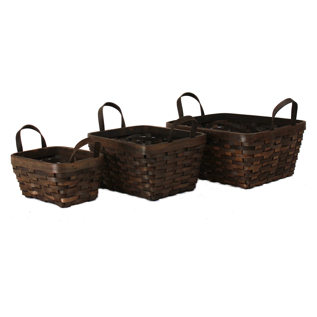 Dark Brown Rectangular Baskets group