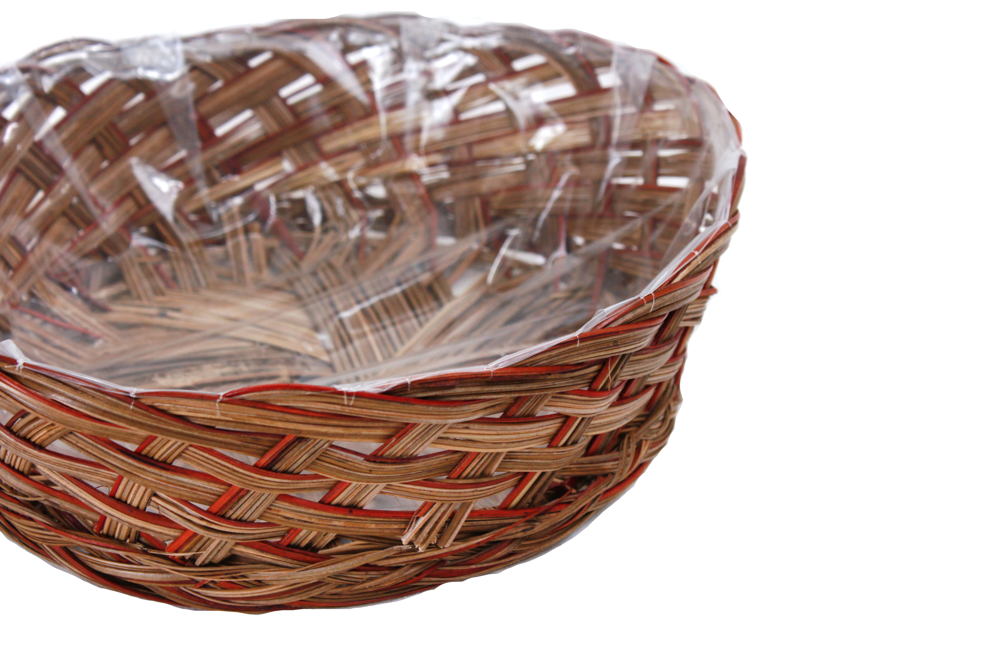 Round 2-Tone Baskets With Plastic Liner close
