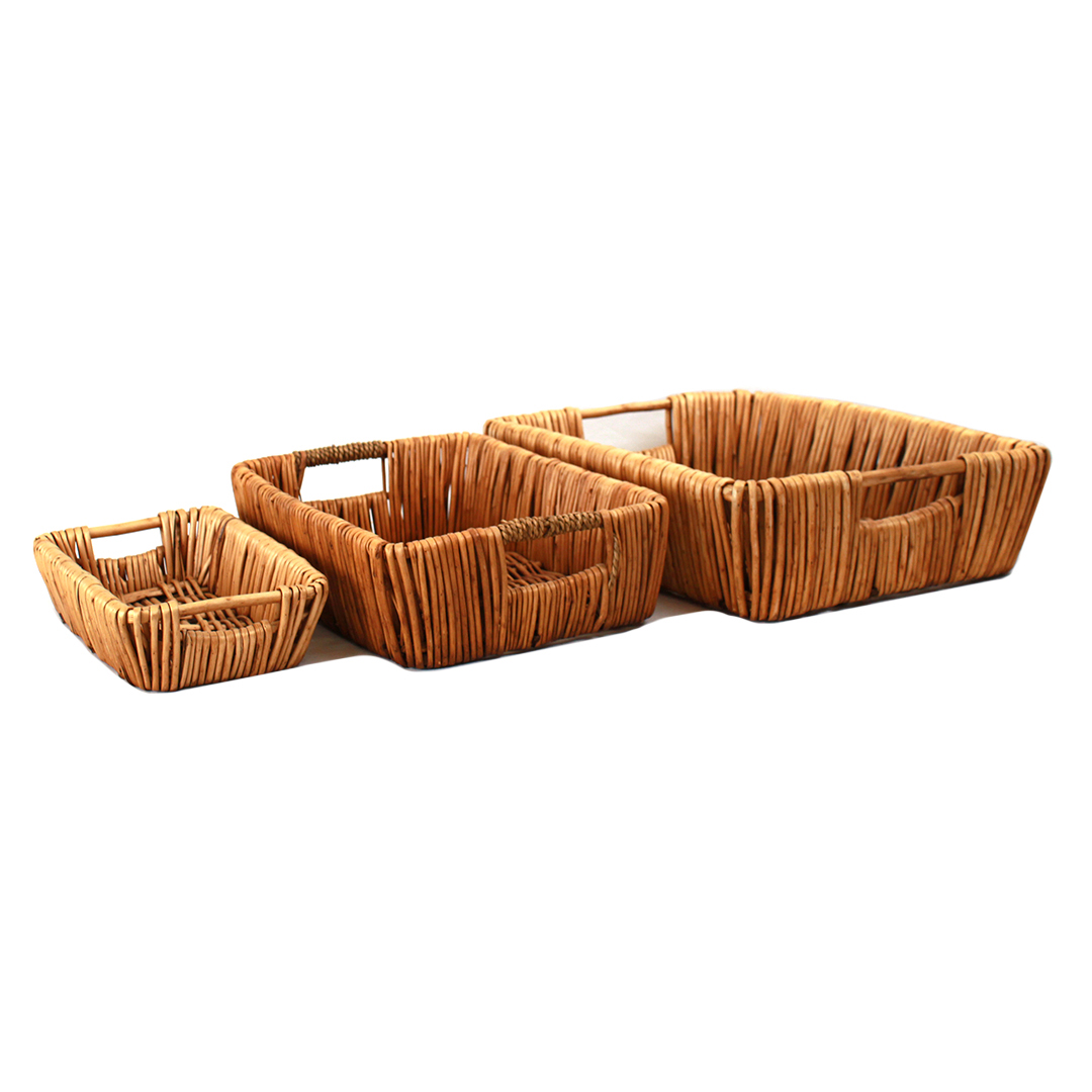 Rectangular Baskets With Handles group
