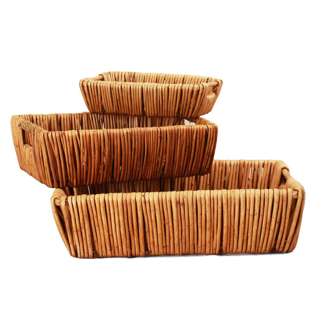 Rectangular Baskets With Handles front