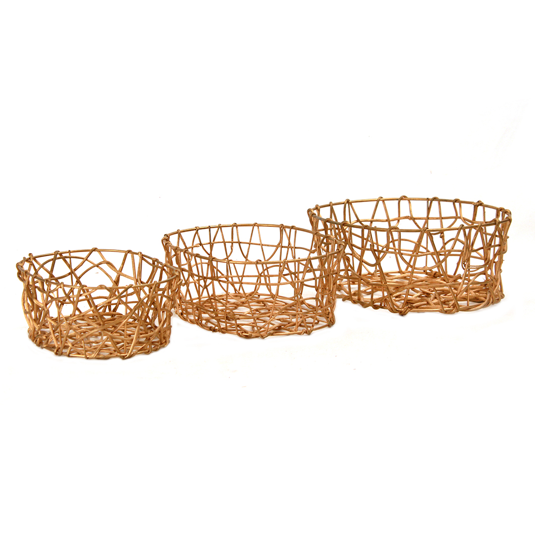 Oval Gold Basket group