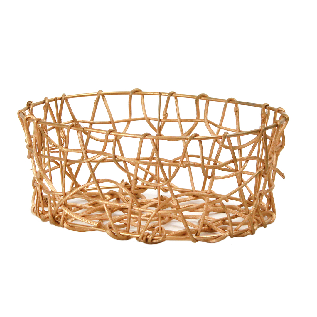 Oval Gold Basket side