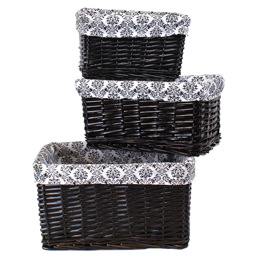 Black Baskets With Liner group