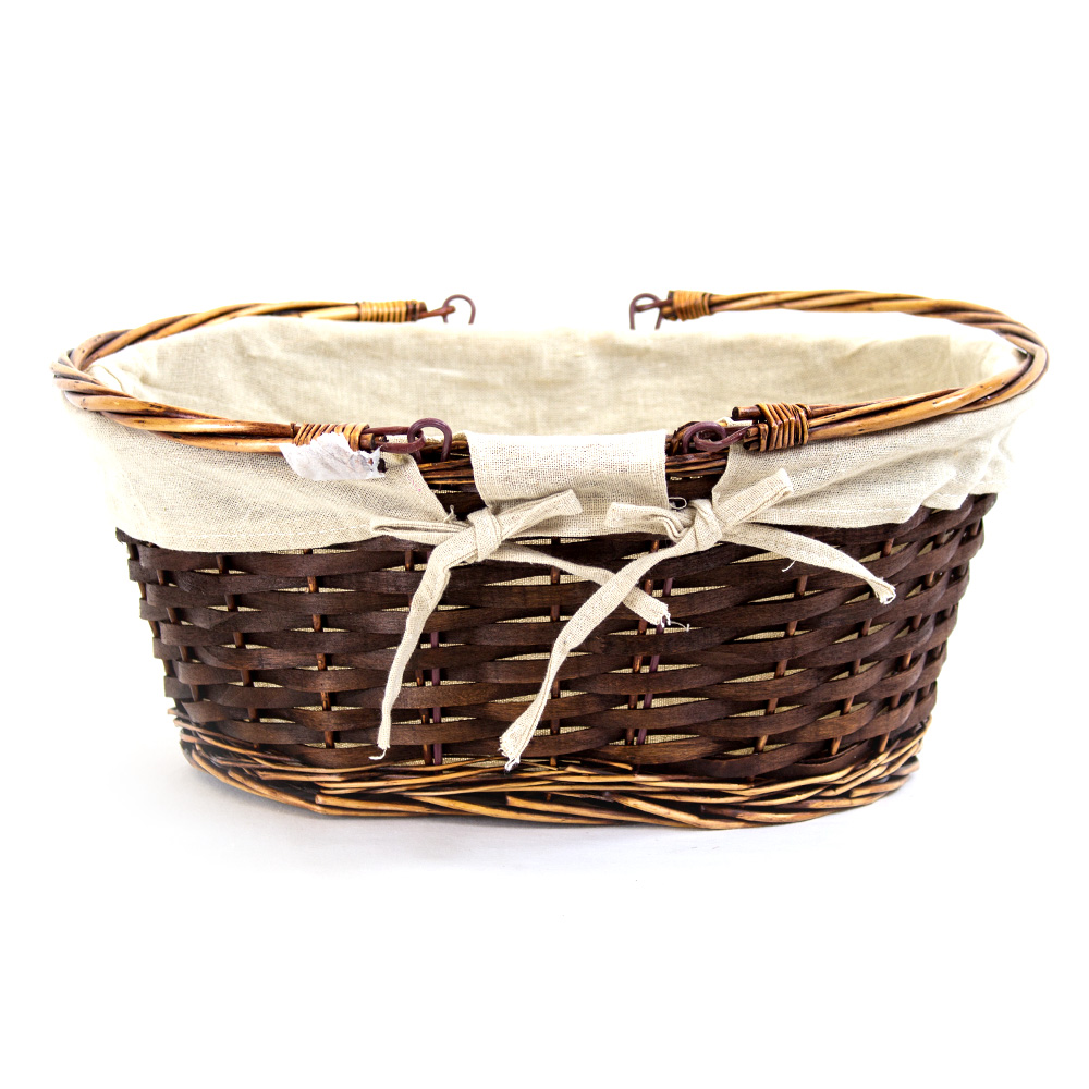 Oval Brown Shopping Baskets - Handle