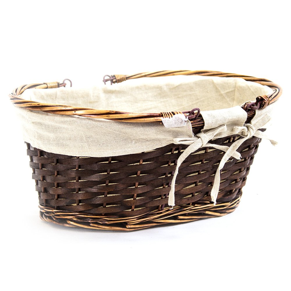 Oval Brown Shopping Baskets - Side