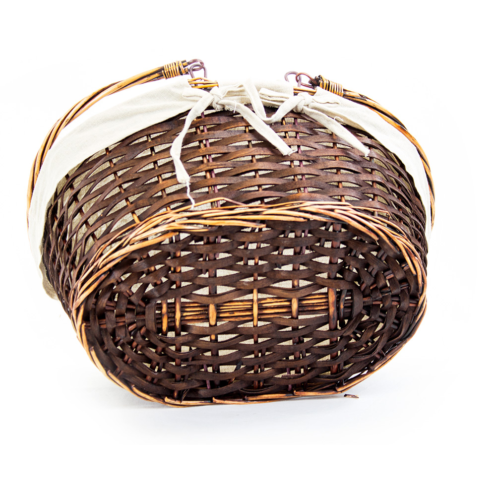 Oval Brown Shopping Baskets - Bottom