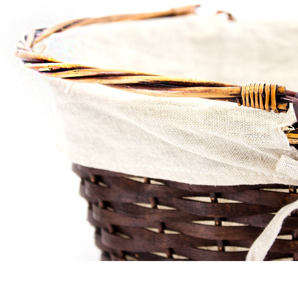Oval Brown Shopping Baskets - Close