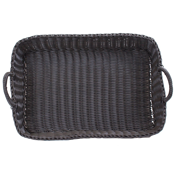 Dark Wicker Baskets With Handles : Buy wicker basket plastic with handles rectangular