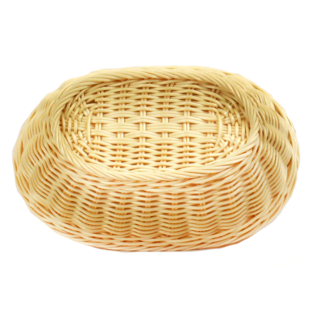 Wicker Basket - Plastic Oval- Beige