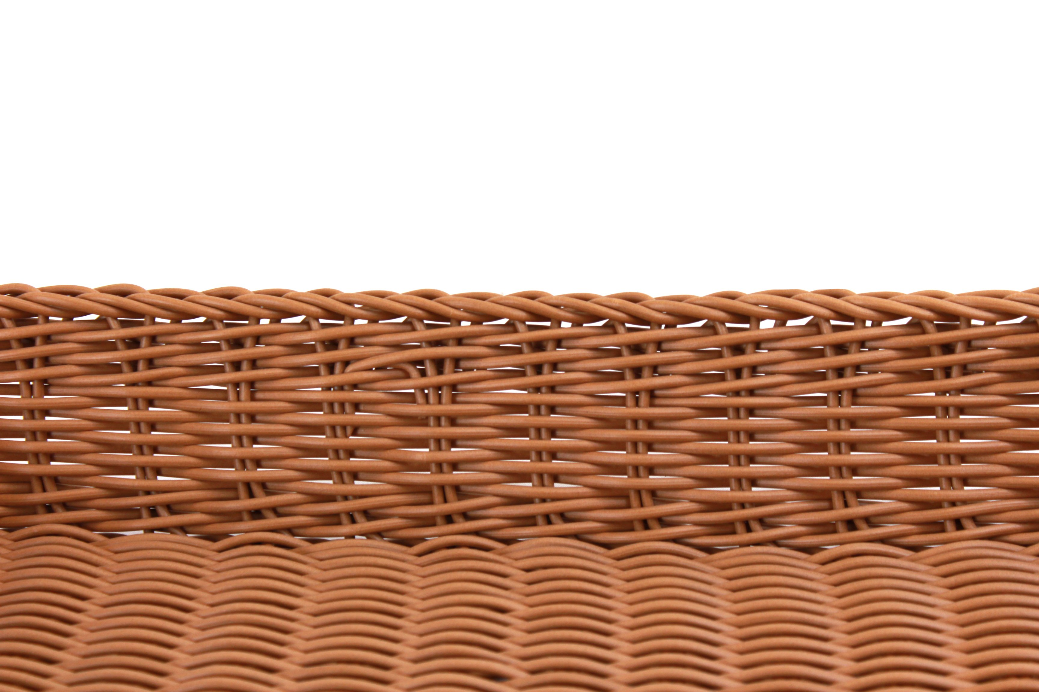 "Square Plastic Basket 18"" x 18"" x 3""brownclose"