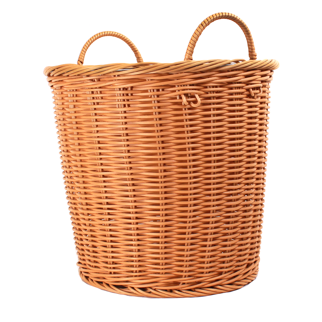foodSURV™ 18'' x 15'' Round Synthetic Bakery Basket - Brown