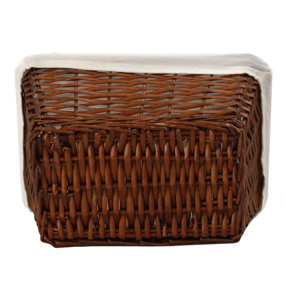 "Brown Baby Basket With Beige Lining 12"" x 8½"" x 5½"""