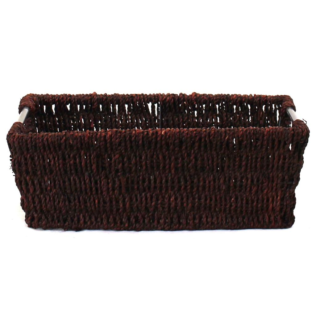 Rectangular Black Baskets With Handles