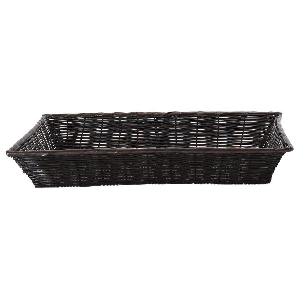 Rectangular Black Plastic Basket